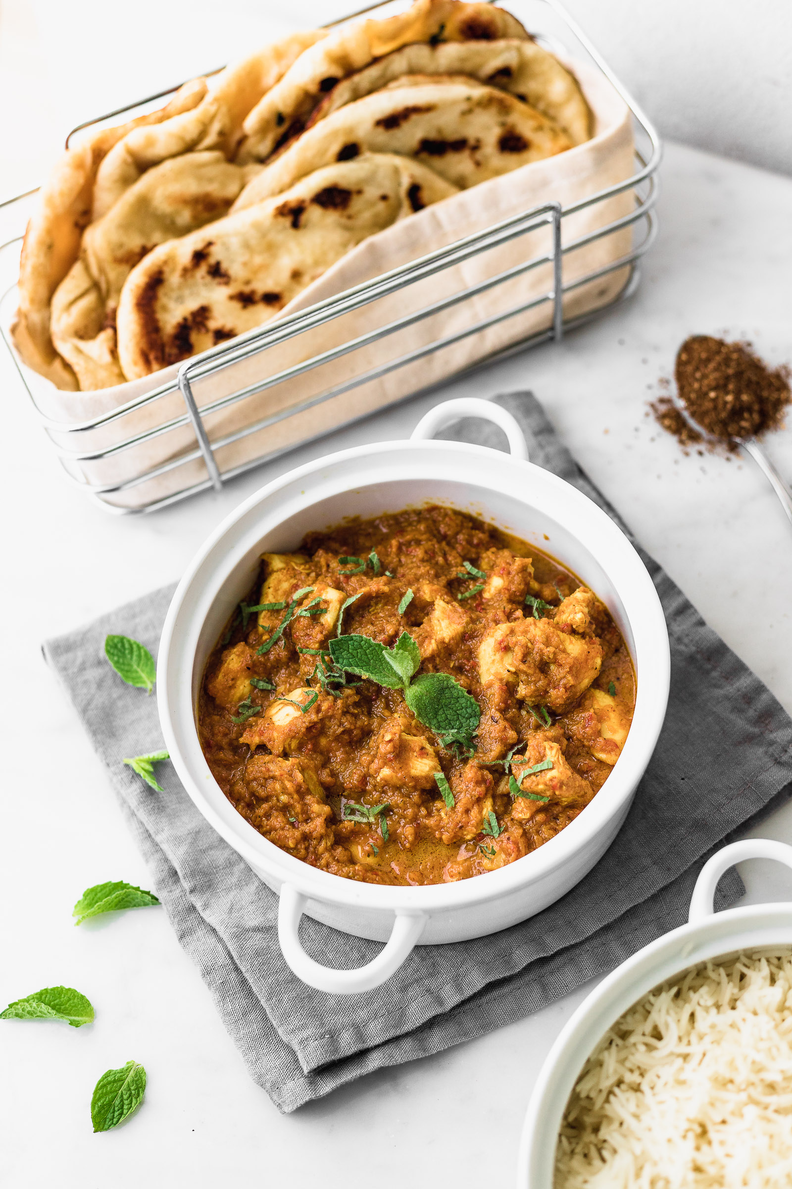 Indian Chicken Curry With Naan Bread Cravings Journal